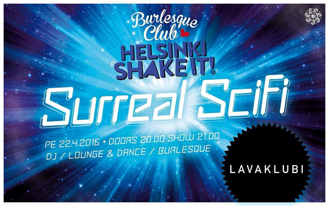 Next Helsinki Shake It! Burlesque Club April 22nd @lavaklubi Performing @venomousdemise @strawberrydelirium @hentity @epedog @stellapolaire @missacrolicious @rhea_gone #anicecupoftease